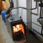 Дровяное отопление огонь
