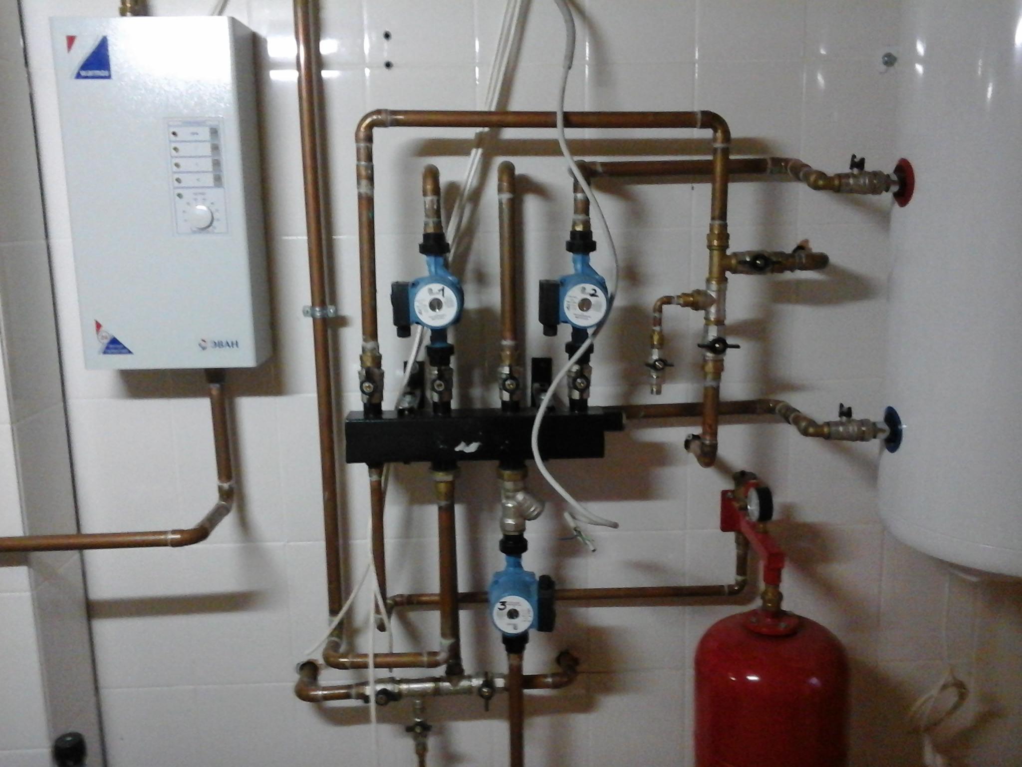 схема отопление дачного дома электрическим котлом